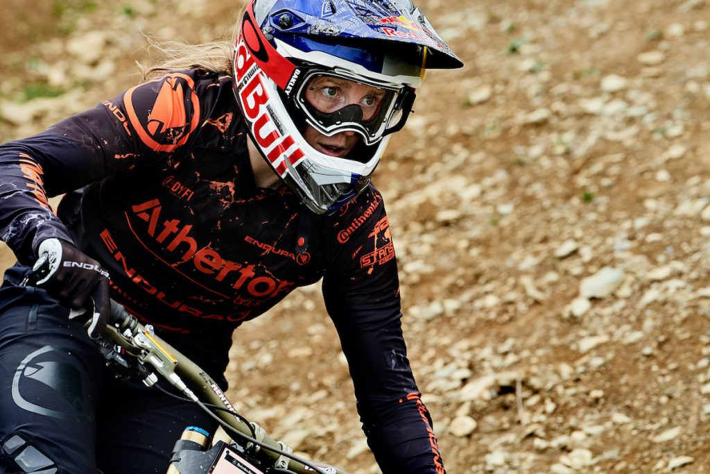 The 32-year-old talks rehab, World Cup return, weddings and new bikes. Rachel Atherton has set her sights on winning her fitness battle in time for the opening World Cup race of 2020 on March 21 in Lousã, Portugal. The Queen of the UCI MTB World Cup scene has been out of action since rupturing her Achilles while competing in Les Gets last July. Ahead of her comeback, Red Bull spoke to the British rider and 39-time World Cup winner about her fear of getting back on the bike, the season ahead, wedding planning, and her new range of bikes.