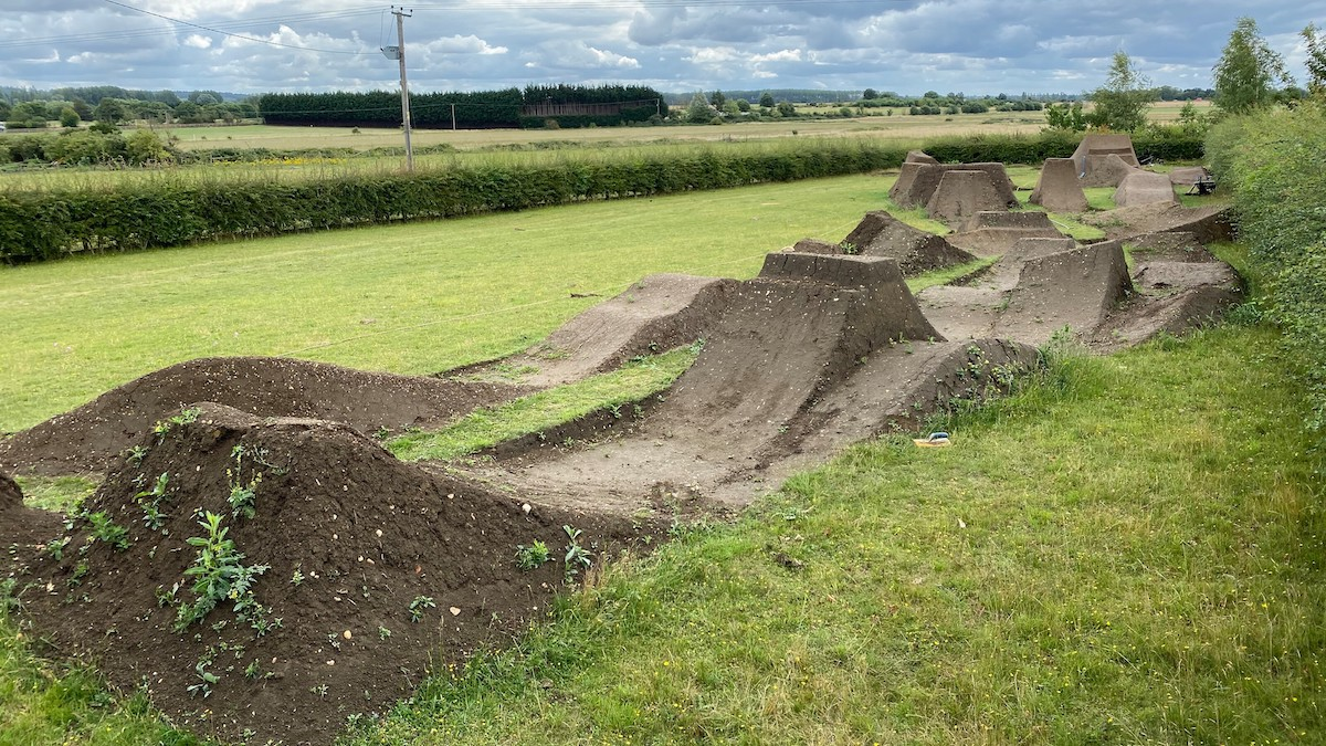 Matt Jones built hos own backyard mtb track
