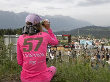 Hot temps and physical track challenge racers to push hard in final day of racing at Crankworx Innsbruck 2021.