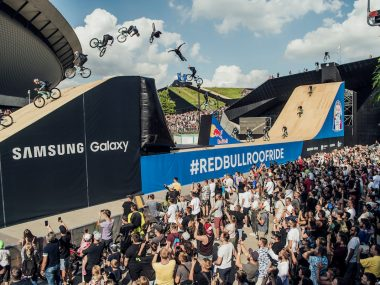 Dawid Godziek won on home soil in Poland and older brother Szymon finished third as Red Bull Roof Ride delivered thrills as one of the 2021 FMB World Tour MTB Slopestyle stops.
